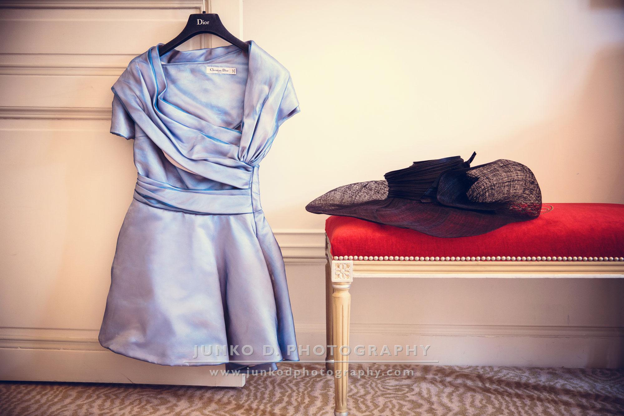 Dior dress in Plaza Atnénée decor